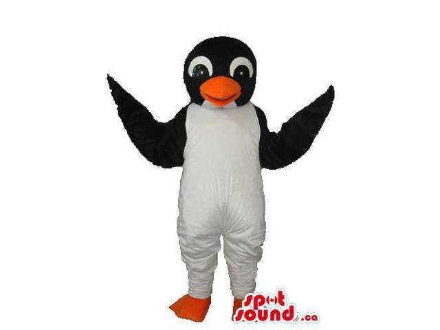 Cute Young Penguin Animal Plush Canadian SpotSound Mascot With Orange Beak