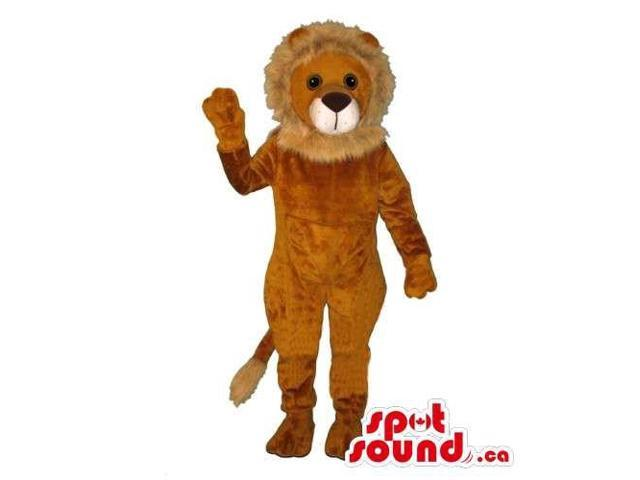 Customised All Brown Plush Lion Animal Canadian SpotSound Mascot