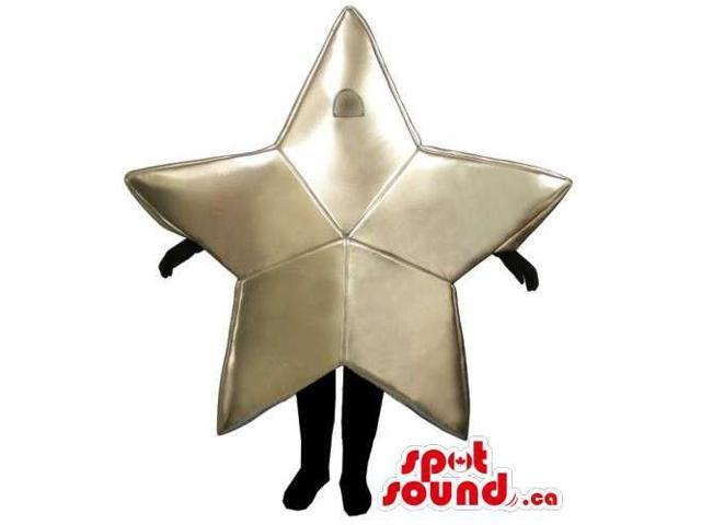 Customised Large Golden Star Canadian SpotSound Mascot With Space For Logos