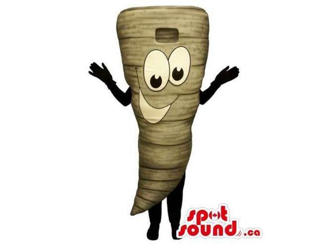 Customised Turnip Vegetable Canadian SpotSound Mascot With Peculiar Face