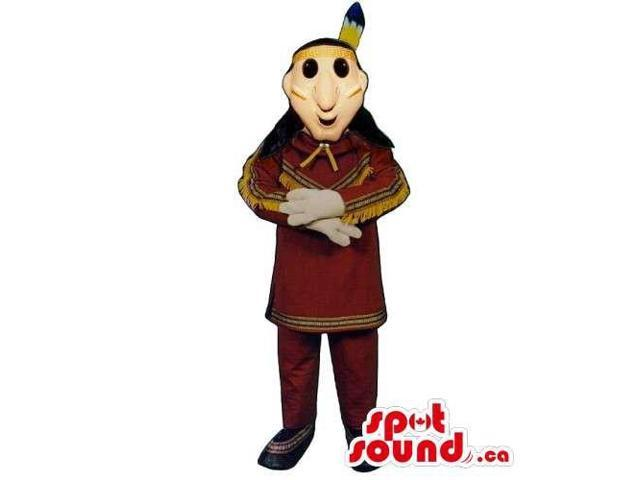 Customised Native Indian Human Canadian SpotSound Mascot With Special Clothes