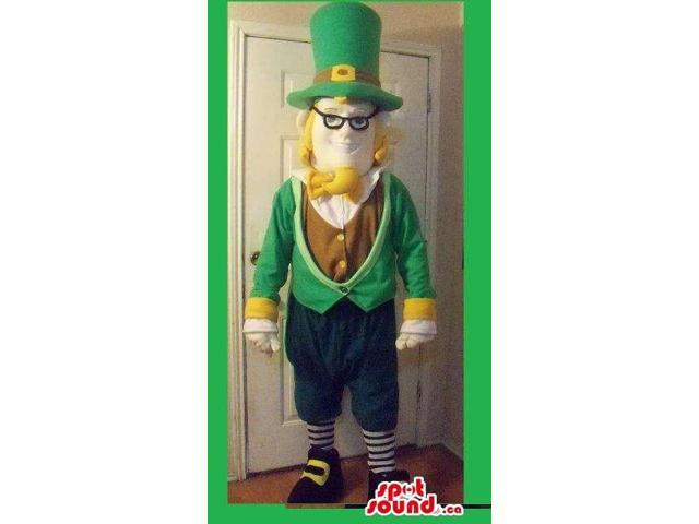 Leprechaun Luck Irish Character Canadian SpotSound Mascot For St. Patrick'S Day