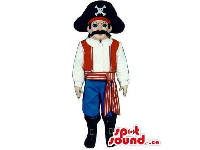 Customised Pirate Human Canadian SpotSound Mascot With Special Clothes