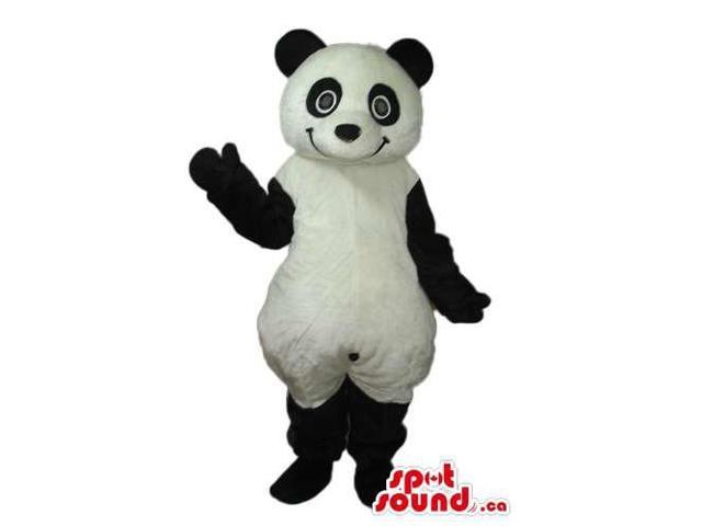 Panda Bear Forest Plush Canadian SpotSound Mascot With Peculiar Round Eyes