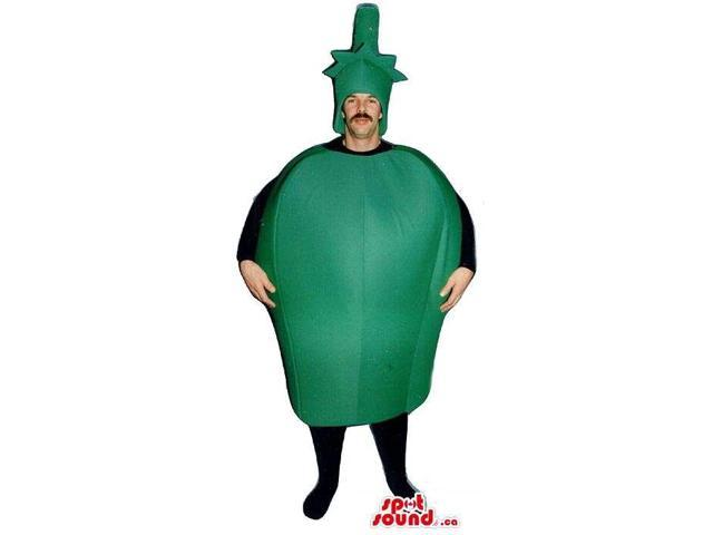 Customised Green Pepper Vegetable Adult Size Costume Or Canadian SpotSound Mascot