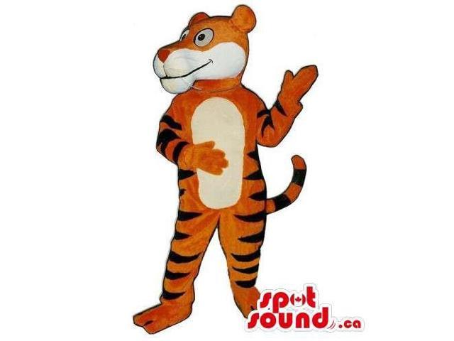 Customised Plush Tiger Canadian SpotSound Mascot With Cartoon Character Look
