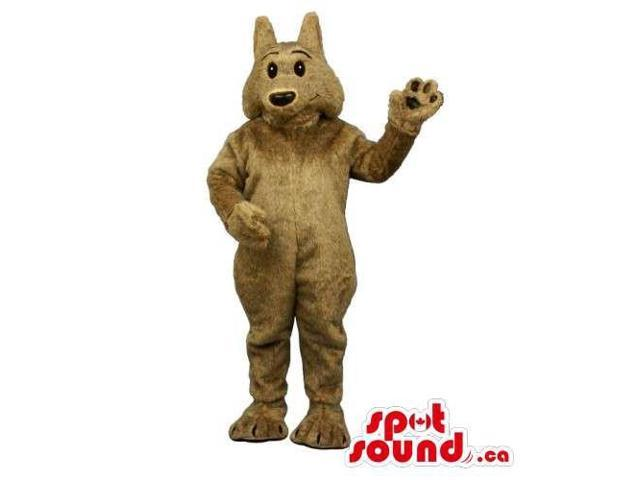 Customised All Brown Plush Wolf Animal Canadian SpotSound Mascot