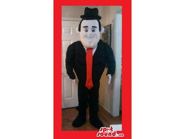 Peculiar Elegant Business Man With A Red Tie Plush Canadian SpotSound Mascot
