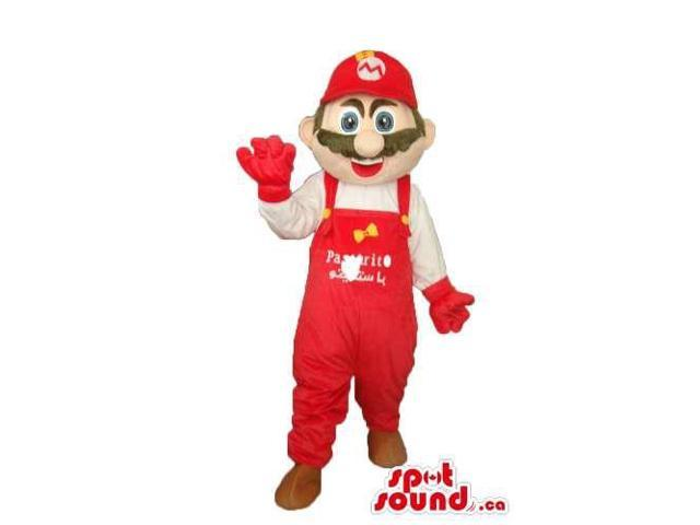 Super Mario Bros. Well-Known Video Game Character Canadian SpotSound Mascot With Logo