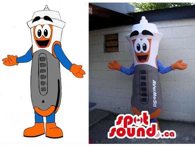 Customised Peculiar Tool Canadian SpotSound Mascot And Drawing With A Brand Name
