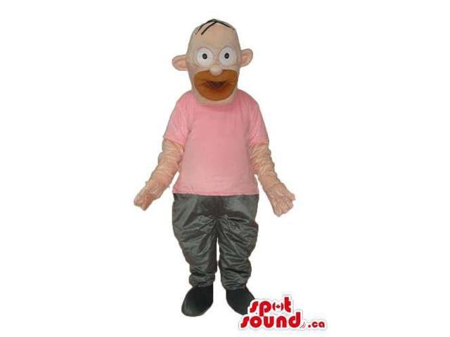 Homer Simpson Well-Known Cartoon Character Plush Canadian SpotSound Mascot