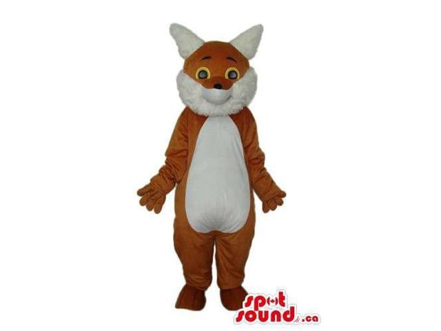Fairy-Tale Brown Fox Plush Canadian SpotSound Mascot With A White Belly