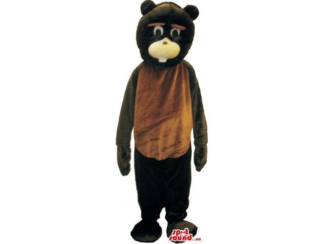 Customised Brown Chipmunk Plush Canadian SpotSound Mascot With A Cute Face