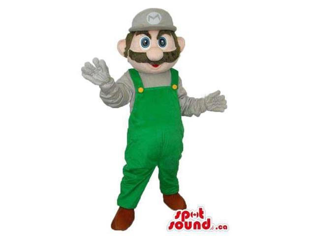 Mario Bros. Luigi Video Game Character Plush Canadian SpotSound Mascot