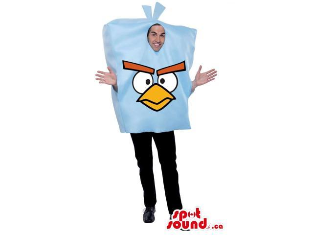 Cute Blue Angry Birds Character Adult Size Costume