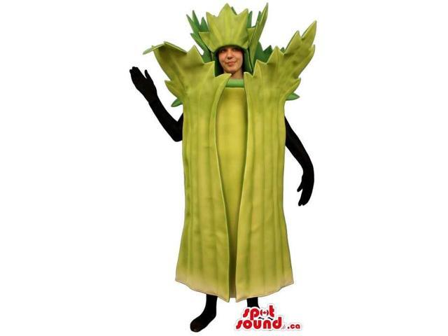 Customised Green Celery Adult Size Costume Or Canadian SpotSound Mascot