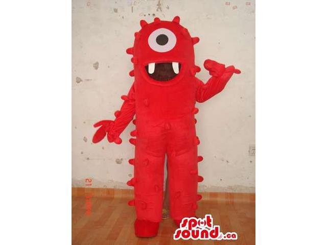 Red One-Eyed Yo Gabba Gabba Character Plush Canadian SpotSound Mascot