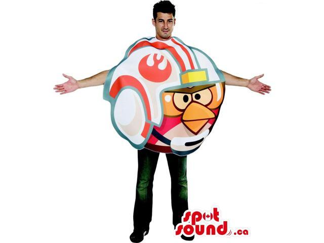 Cool Angry Birds In A Helmet Character Adult Size Costume