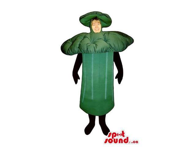 Customised Green Mushroom Adult Size Costume Or Canadian SpotSound Mascot