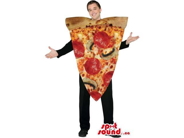 Real-Looking Large Pepperoni Pizza Slice Adult Size Costume
