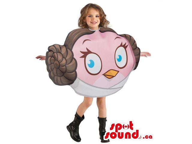 Cool Star Wars Angry Birds Leya Head Children Size Costume