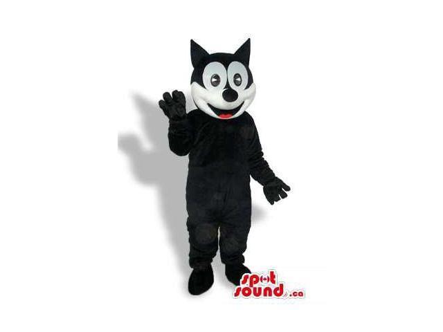 Felix The Cat Well-Known Cartoon Character Plush Canadian SpotSound Mascot