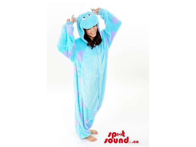 Fairy-Tale Cool Blue Cow Or Bull Plush Adult Size Costume