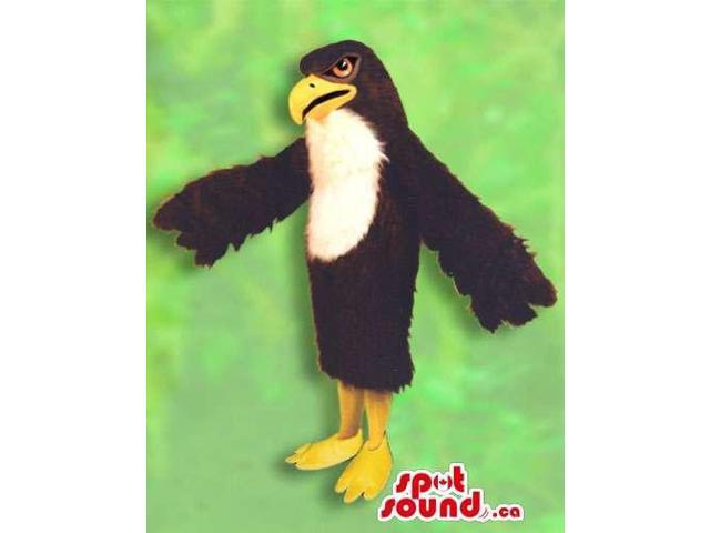 Fantastic Dark Brown And White Eagle Bird Animal Plush Canadian SpotSound Mascot
