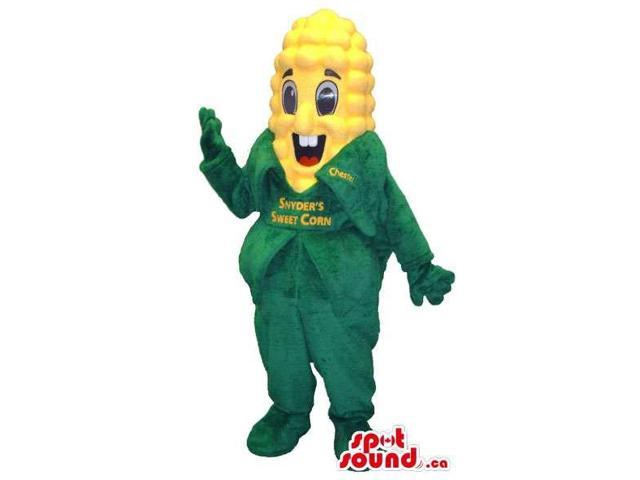 Customised Corncob Canadian SpotSound Mascot With Peculiar Face And Text