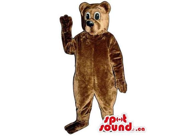 Customised All Brown Plush Bear Forest Canadian SpotSound Mascot