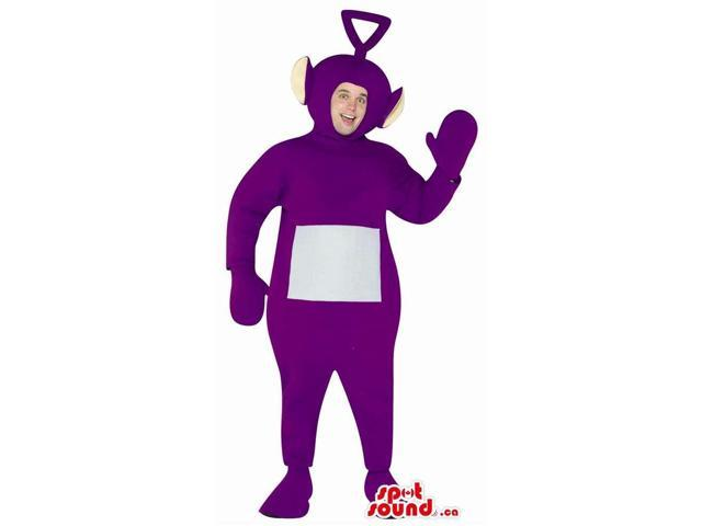Purple Teletubbies Plush Canadian SpotSound Mascot Or Adult Size Costume