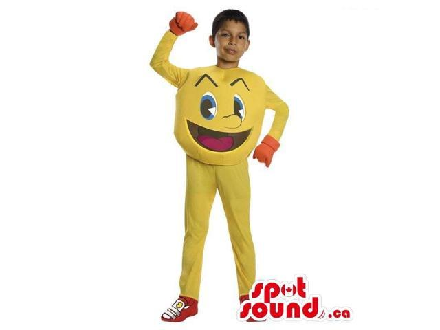 Cool Yellow Pac Man Video Game Character Children Size Costume