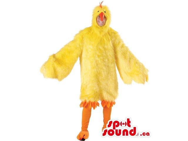 Large Yellow Chicken Or Hen Plush Adult Size Costume