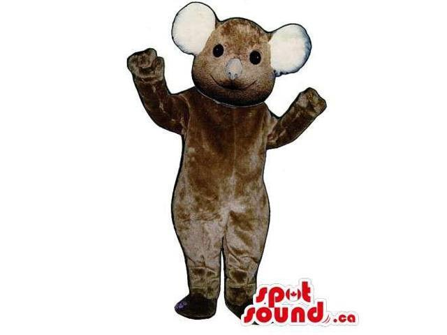 Customised All Brown Koala Animal Canadian SpotSound Mascot With Large Ears