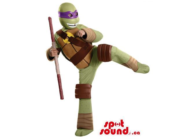 Well-Known Ninja Turtles Donatello Character Plush Canadian SpotSound Mascot With A Sword