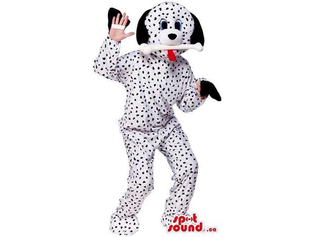 Customised Dalmatian Dog Canadian SpotSound Mascot With Discovered Hands