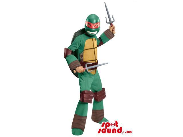 Well-Known Ninja Turtles Raphaello Character Plush Canadian SpotSound Mascot With A Sword