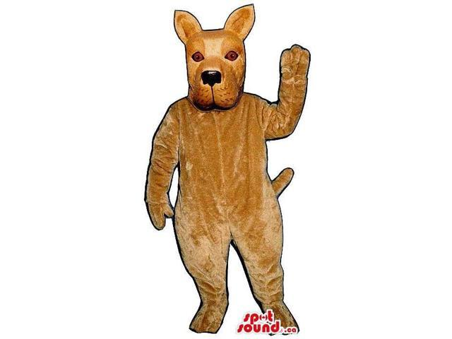 All Brown Dog Animal Pet Plush Canadian SpotSound Mascot With Pointy Ears