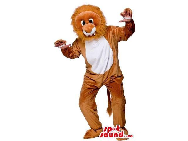 Customised Lion Canadian SpotSound Mascot With Comfortable Option For Your Hands