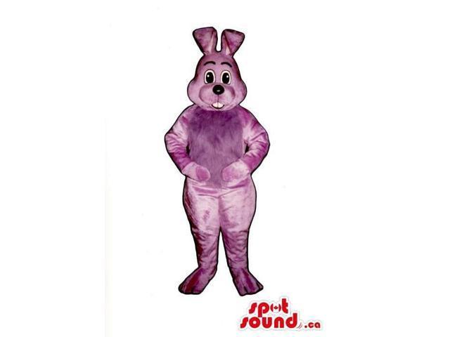Customised Cute All Purple Easter Rabbit Plush Canadian SpotSound Mascot