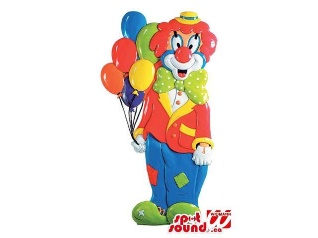 Customised Party Decoration Clown With Balloons In Flashy Colors
