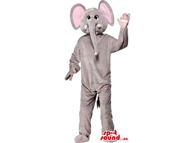 Elephant Canadian SpotSound Mascot With Comfortable Option For Your Hands