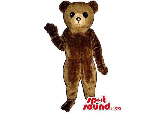 Customised And All Brown Teddy Bear Forest Canadian SpotSound Mascot