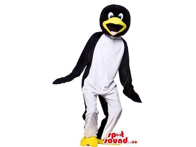 Customised Peculiar Penguin Canadian SpotSound Mascot With White Front Body