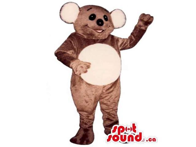 Customised Brown Koala Canadian SpotSound Mascot With Large Ears And Beige Belly