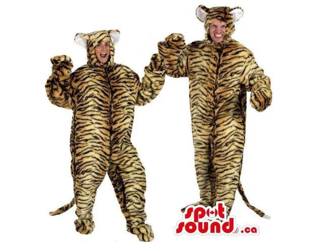 Brown Pattern Panther Plush Adult Size Costumes Or Canadian SpotSound Mascots