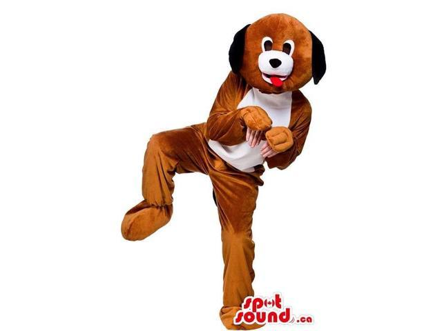 Dog Canadian SpotSound Mascot With Comfortable Option For Your Hands