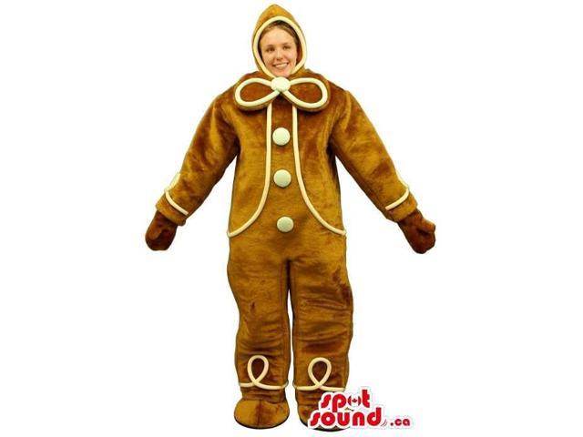 Cool Ginger-Bread Man Adult Size Costume Or Canadian SpotSound Mascot