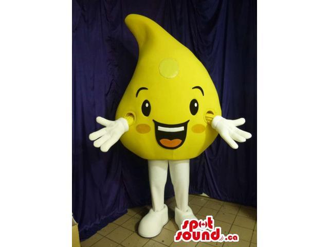 Large Yellow Oil Drop Plush Canadian SpotSound Mascot With A Cute Face