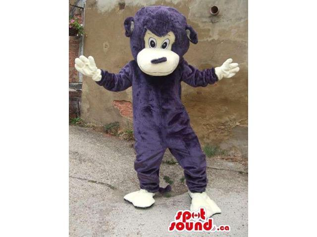 Customised And All Purple Monkey Animal Canadian SpotSound Mascot